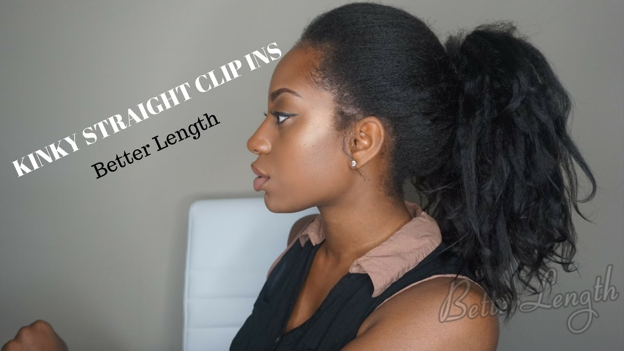 How To Do A Ponytail With Kinky Straight Clip Ins