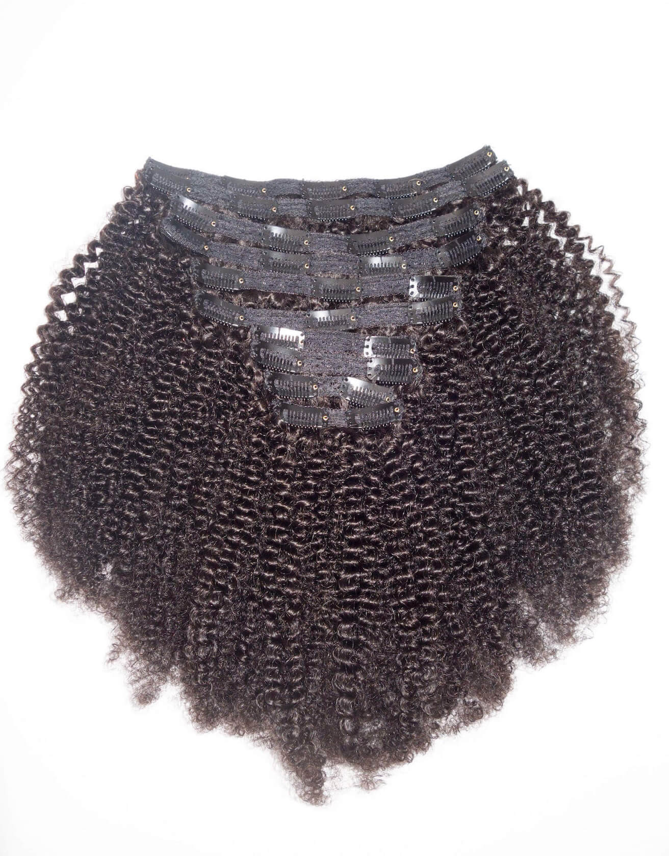 Afro Kinky Curly Clip In Hair Extensions 3c 4a Natural