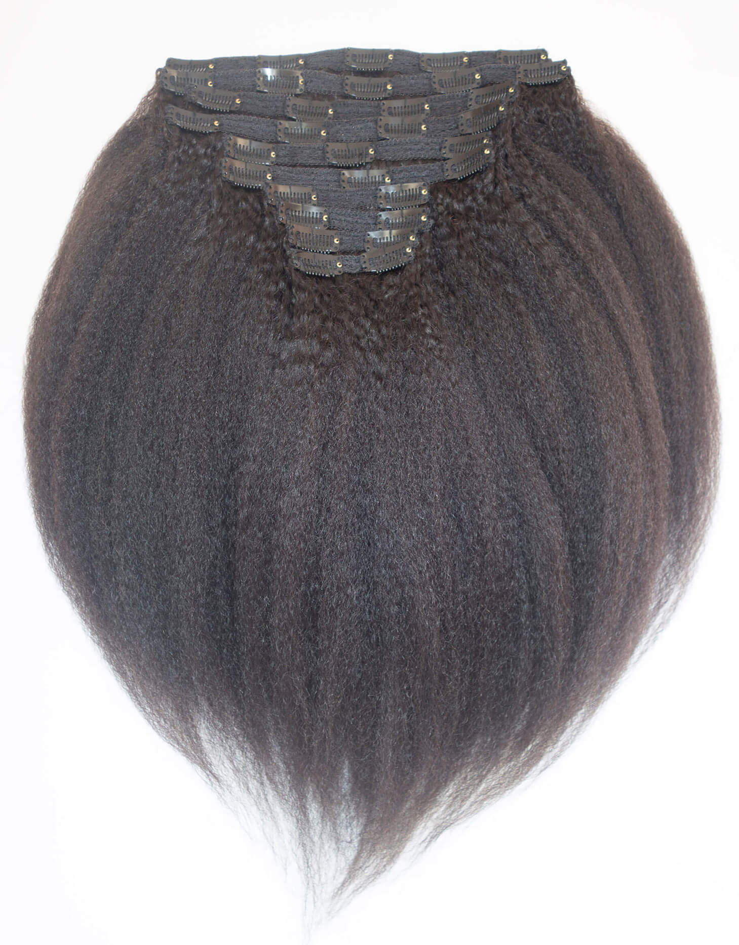 Kinky Coarse Clip In Hair Extensions