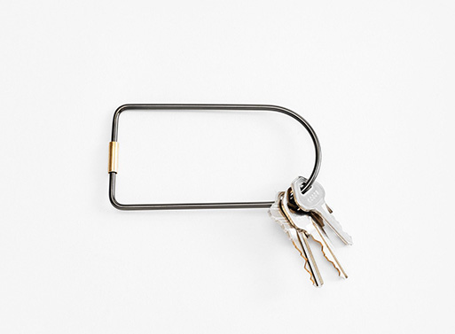 Contour Key Rings, Black