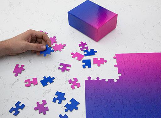 Gradient Puzzle Small Bundle