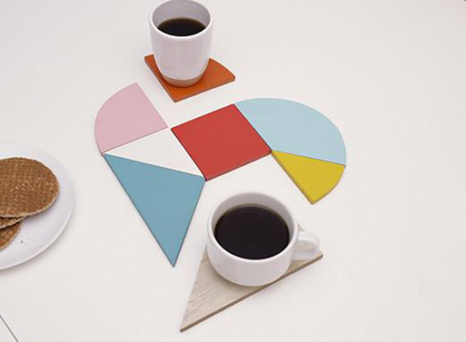 Heart Coasters And Trivet