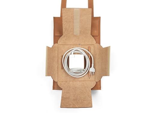 Soffio Macbook Sleeve Backpack pocket open