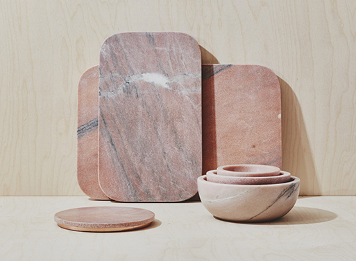 Mara Marble Serving Collection Pink