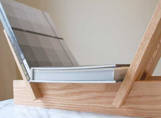 Record / Book Holder from Coil + Drift