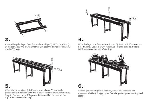DIY Planting Table