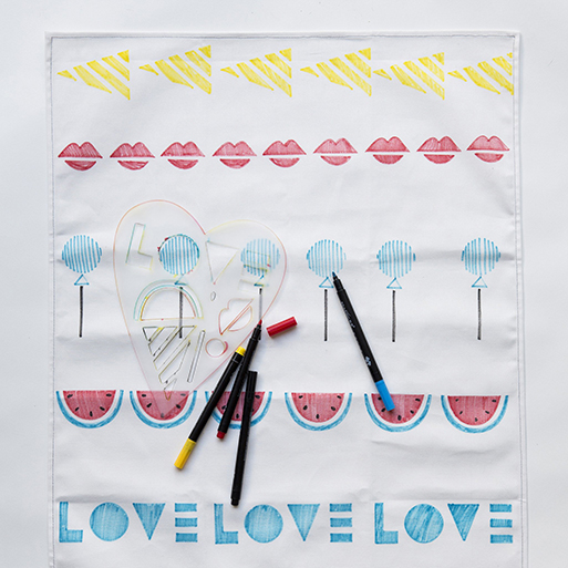 Sweet Tea Towel Stencil Kit