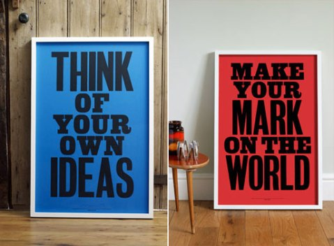 anthony burrill posters