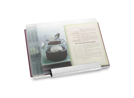 Glass and Stainless Steel Cookbook Holder