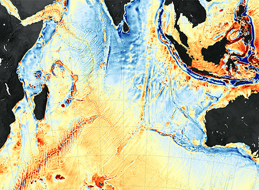 Incredible Gravity Map of the Earth's Seafloors