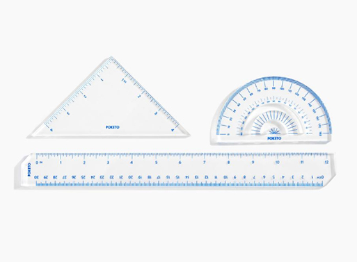 Lucite Ruler Set