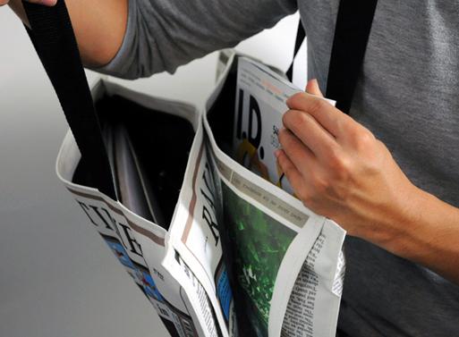 Newspaper for Rain Bag 4