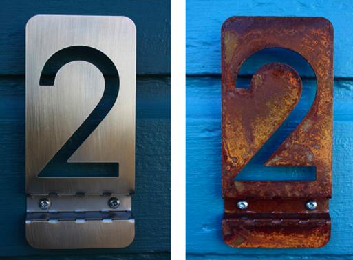 Modern Metal House Numbers 3