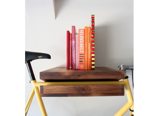 bike rack with books