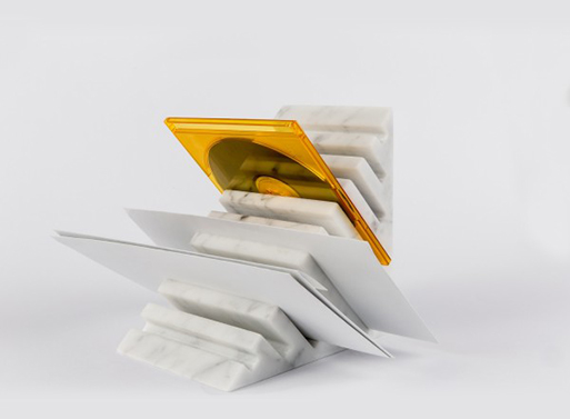 Bookend and Paper Holder by Scandola Marmi