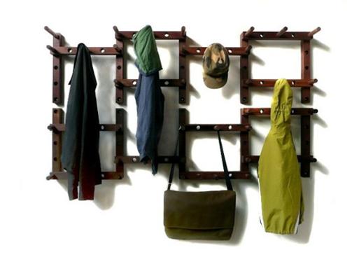 Thru-Block coat rack