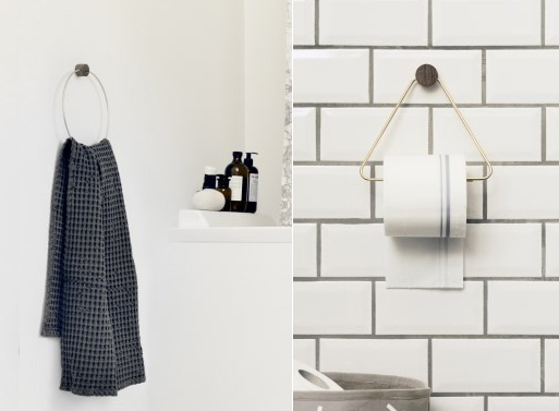 Brass Towel Hanger and Toilet Paper Holder