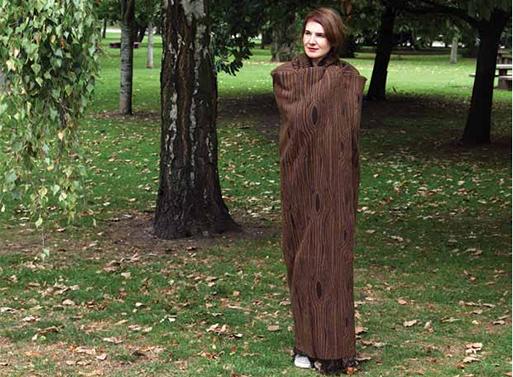 Wooly Wood Throw Brown