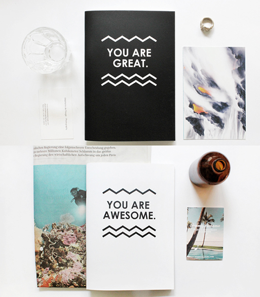 Double Sided B&W Notebooks you are great