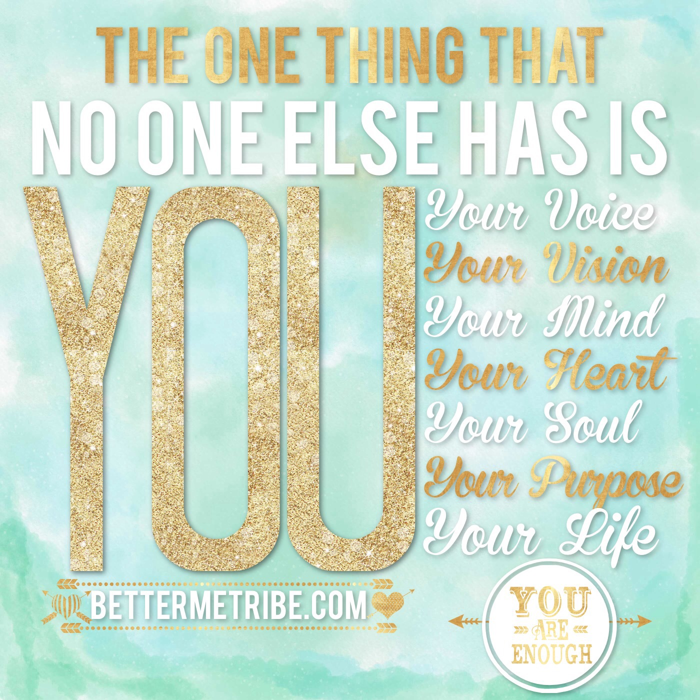 You are the one and only You!