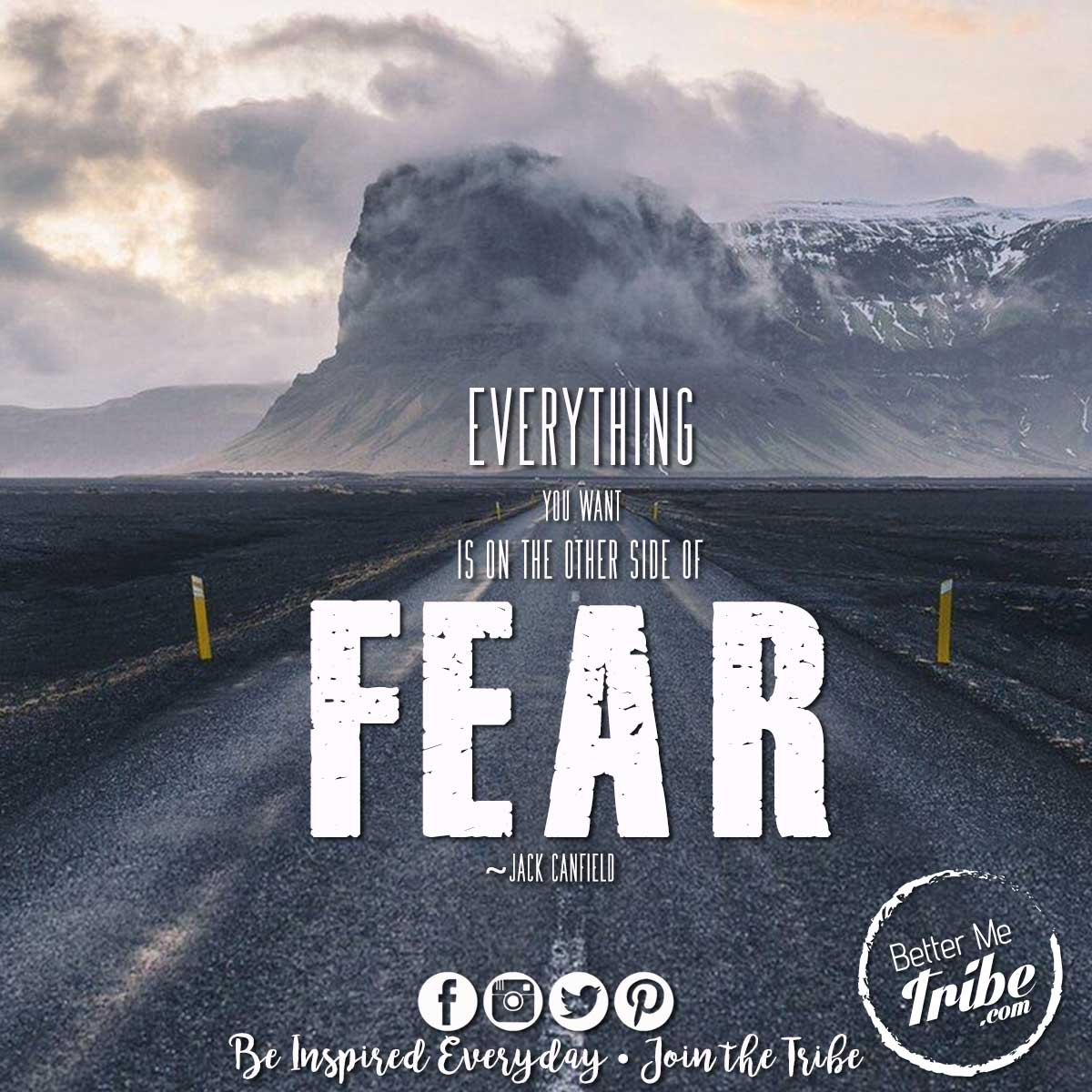 """Everything you want is on the other side of fear."""
