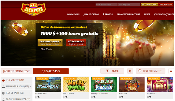 All Jackpots Casino Canada