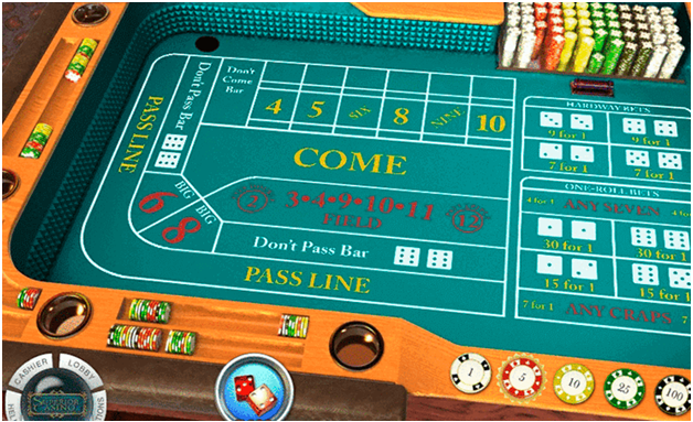 The game of online Craps to play with real CAD
