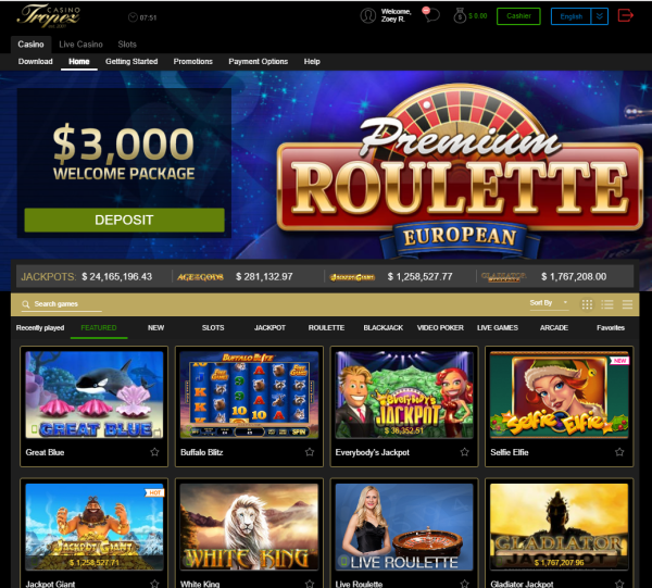 Casino Tropez games to play