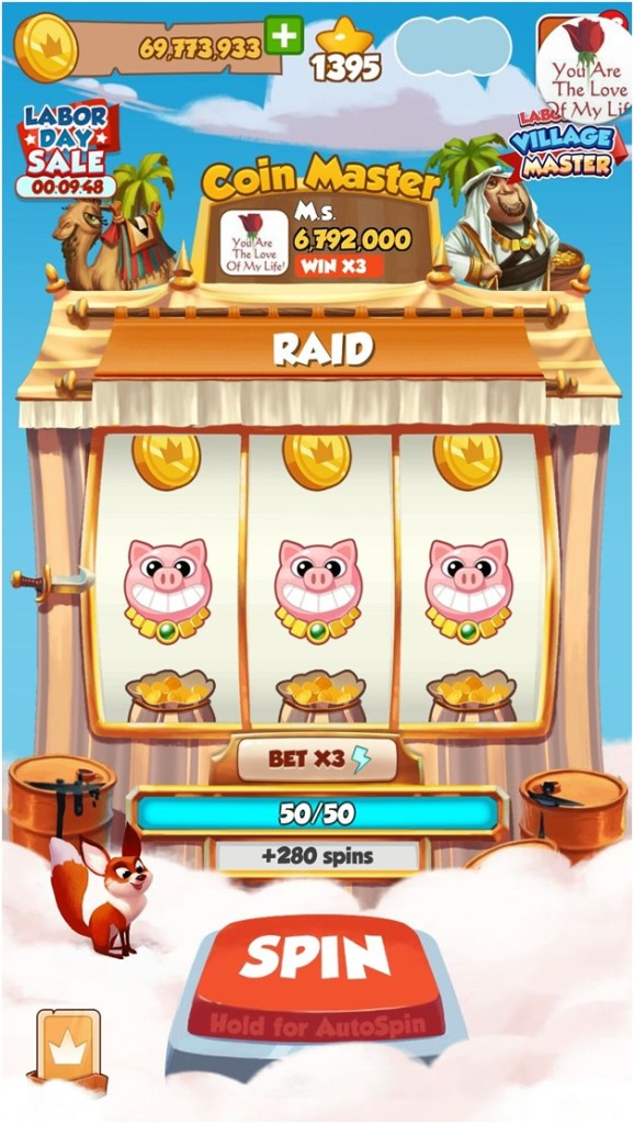 Free coins in Coin Master