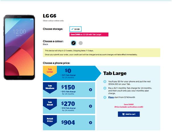 LG G6 Saving Plans