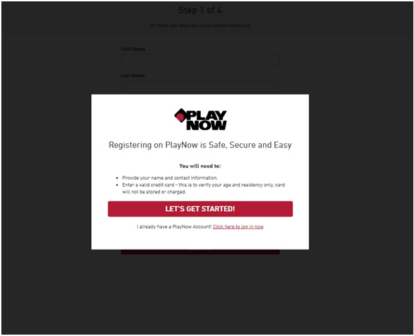 Play Now- Get started