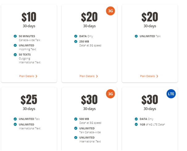 Public Mobile latest plans on offer