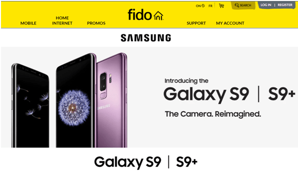 Samsung Galaxy S9 with Fido plans