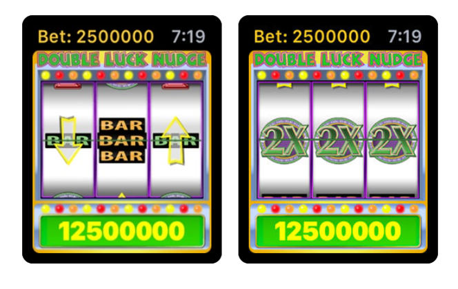 Double Luck Nudge the mobile slot game in Canada