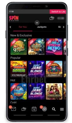 Spin Casino Canada Mobile
