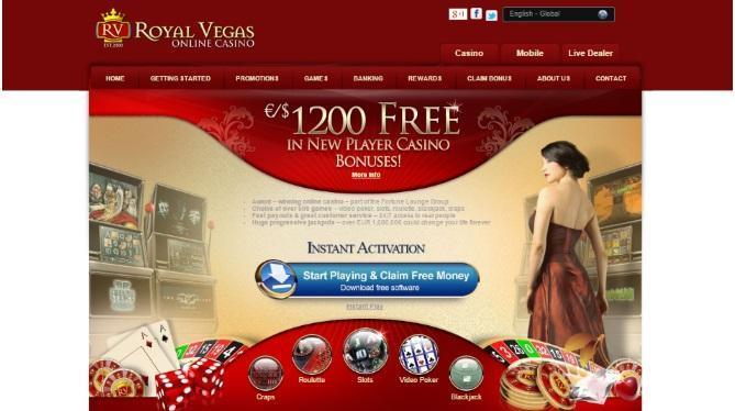 royal vegas 1200 bonus