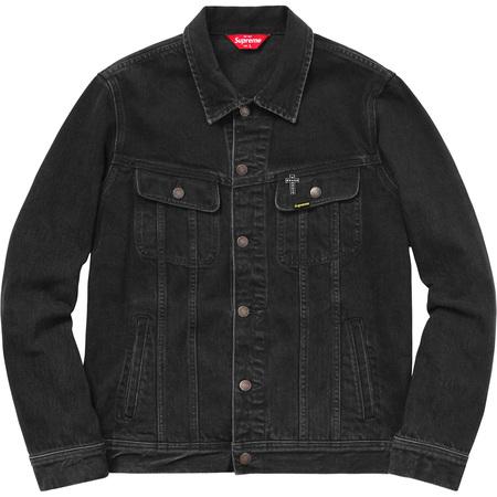 Supreme®/Black Sabbath© Denim Trucker Jacket (Black)