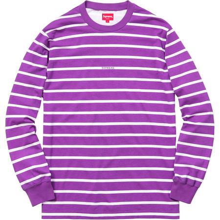 Printed Stripe L/S Top (Purple)