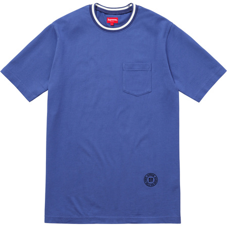 Rib Pocket Tee (Dusty Blue)