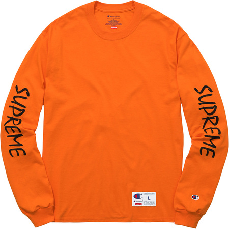Supreme®/Champion® L/S Tee (Orange)