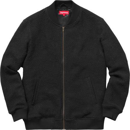 Bouclé Varsity Jacket (Black)