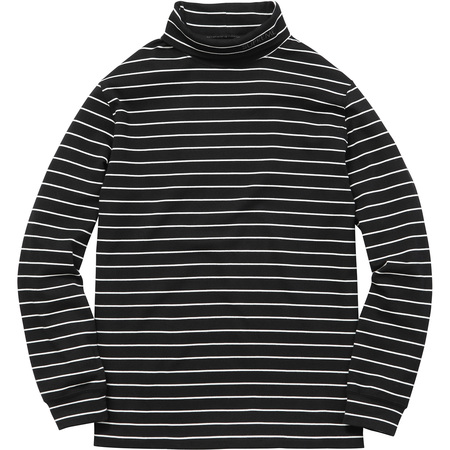 Striped L/S Turtleneck (Black)