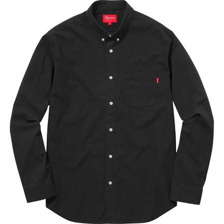 Tonal Seersucker Shirt (Black)