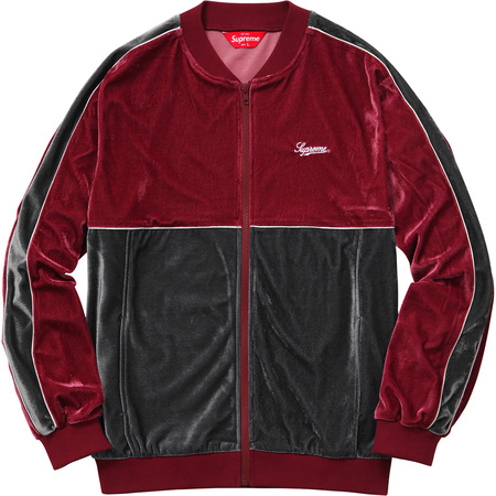 2-Tone Velour Zip Up Sweat (Light Burgundy)