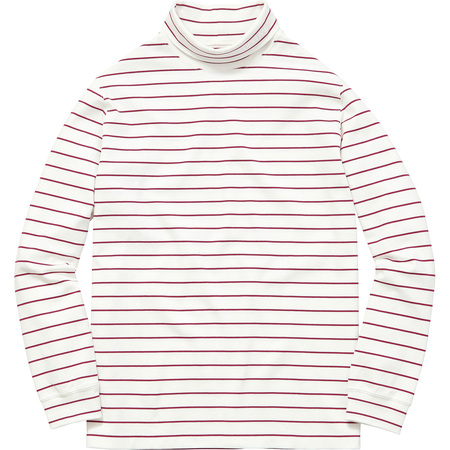 Striped L/S Turtleneck (White)