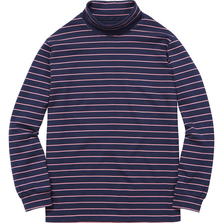 Striped L/S Turtleneck (Navy)