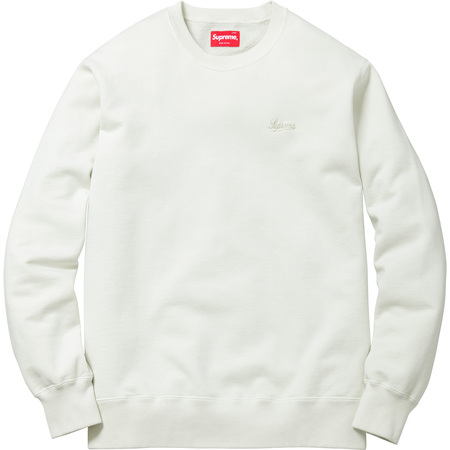 Embroidered Overdyed Crewneck (Off White)