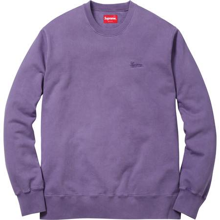 Embroidered Overdyed Crewneck (Dusty Purple)