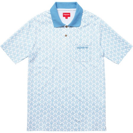 Rope Print Polo (Light Blue)