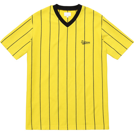 Pinstripe Soccer Top (Yellow)